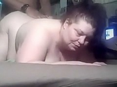 chubby non-professional irrumation and doggy style fuck