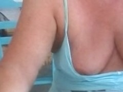 Bimbo's getting naughty in public flashing video