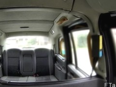 Redhead rimming and fucking in fake taxi