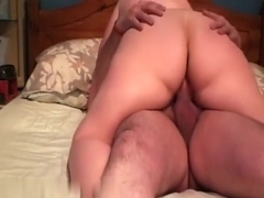 Obese wife gives her dude a ride