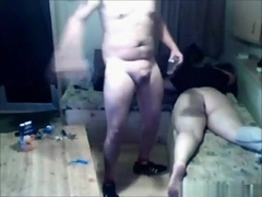 Mature woman gets froggystyle and missionary fucked on the sofa
