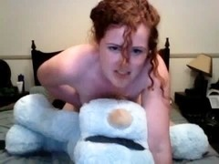 Teddy bear strap on fuck