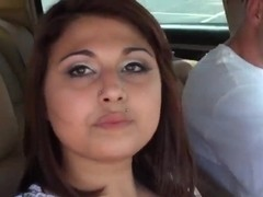 A pierced Latina goes on a lovely day-date