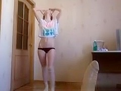 Hot immature blonde stripping for me