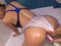 Asian guy fucks a big titted babe.