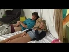 Blond legal age teenager and Mother I'd Like To Fuck share one boner