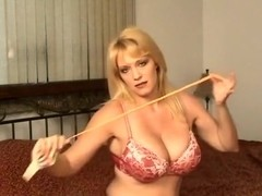 Charlee Chase Blows to POP several nice balloons
