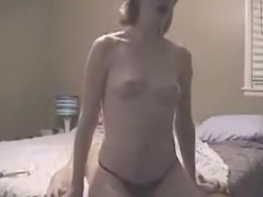 pounding his slim girlfriend in doggy position in advance of squirting cum on her back