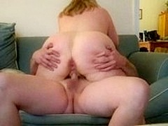 Mature chubby wife on couch