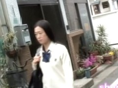 Wild sharking scene of phenomenal Japanese chick and some lad