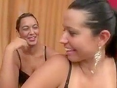 Two Brazilian mistresses facesits on bondman