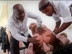 Two BBC double penetration a white chick