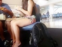 Candid Feet at Airport