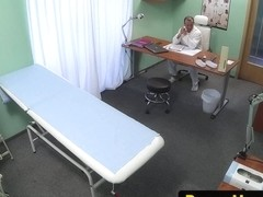 Euro sucks doctor in office after fucking