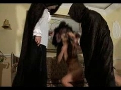 Awesome hotties made to submit and caned