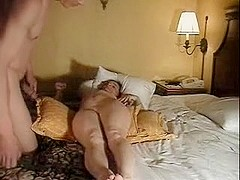 Pussy whipping orgasmic work with wife