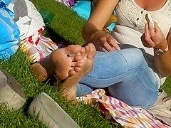 Candid Feet & Dirty Soles at the Park