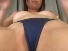aja1 pretty asain girl plays with her pussy