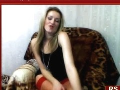 Porn show with slut dressed in red
