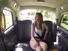 Busty brunette Stella Cox getting pounded by taxi driver