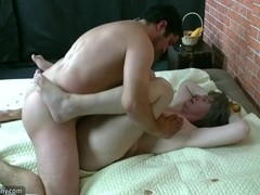Horny young man fucking with bbw woman