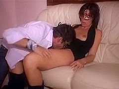 Horny masked mature anal orgy