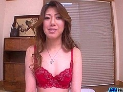 Sexy porn play along lingerie babe Reina Nishio