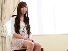 Sensual posing by amateur Japanese girl Anri