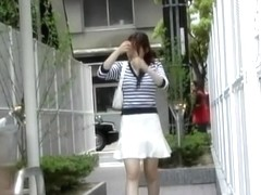 Asian sharking video with a sexy lady in blue panties