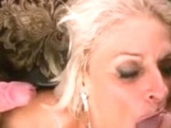 Georgette Parks Enjoying two Youthful Dongs