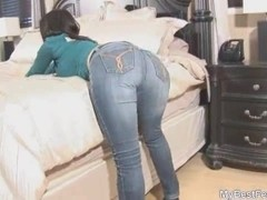 MyBestFetish: Jeans fetish blowjob hand job