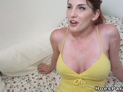 Four girlfriends having orgy party