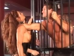 Hottest pornstar Aria Noir in horny fishnet, big tits adult scene