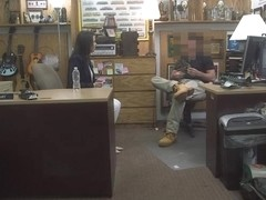 Hot wifey of a customer gets twat banged by nasty pawn man