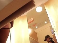 Real teen is voyeured in the changing room undressing