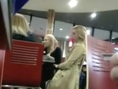 masturbating to girls in restaurant
