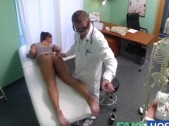 Bawdy mother i'd like to fuck sex junkie receives screwed by the doctor during the time that her s.