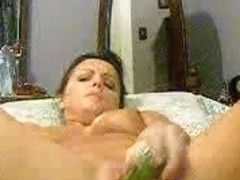 horny woman in a good veggie fuck