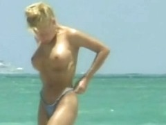Several fit foxy ladies on a nudist beach, big boobs, big ass porno