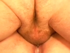 Outstanding slit penetration and a long creampie on home vid