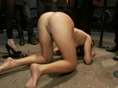 Pushed to the Limit With Uncontrollable Orgasms Made to Cum Over and Over by Strangers