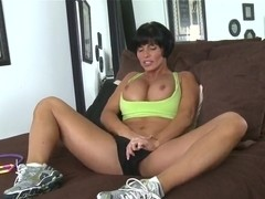 Milf Shay Fox masturbates and takes on stiff cock