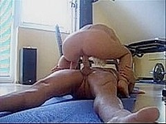 Fit babe riding cock