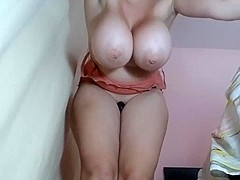 Milf with massive mambos quivering and squirting