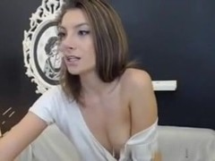 Cute  immature Undresses and Inserts a Biggest Sex Tool