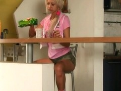 Milena - nude in the Kitchen