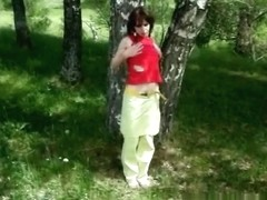 Complete lustful stranger blowing me in the forest