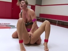 Squirting Orgasms! Utter Erotic Wrestling Dominance