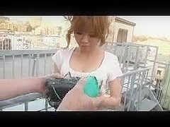 Tobikko - legal age teenager girl self camera outdoor orgasmus twice