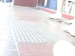 seriously hot voyeur upskirt white panties and bum in slow motion